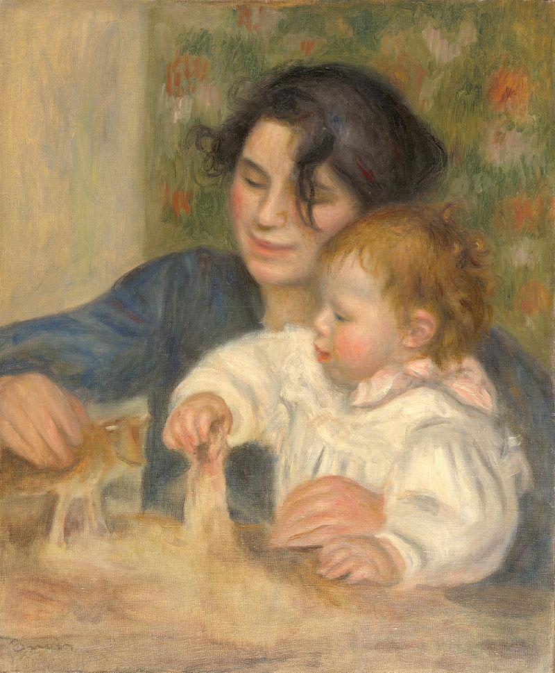 Pierre-Auguste-Renoir, painting of Gabrielle Renard and infant son, Jean.