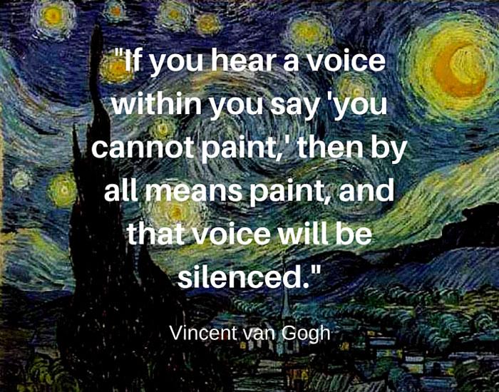 Vincent van Gogh quote about confidence