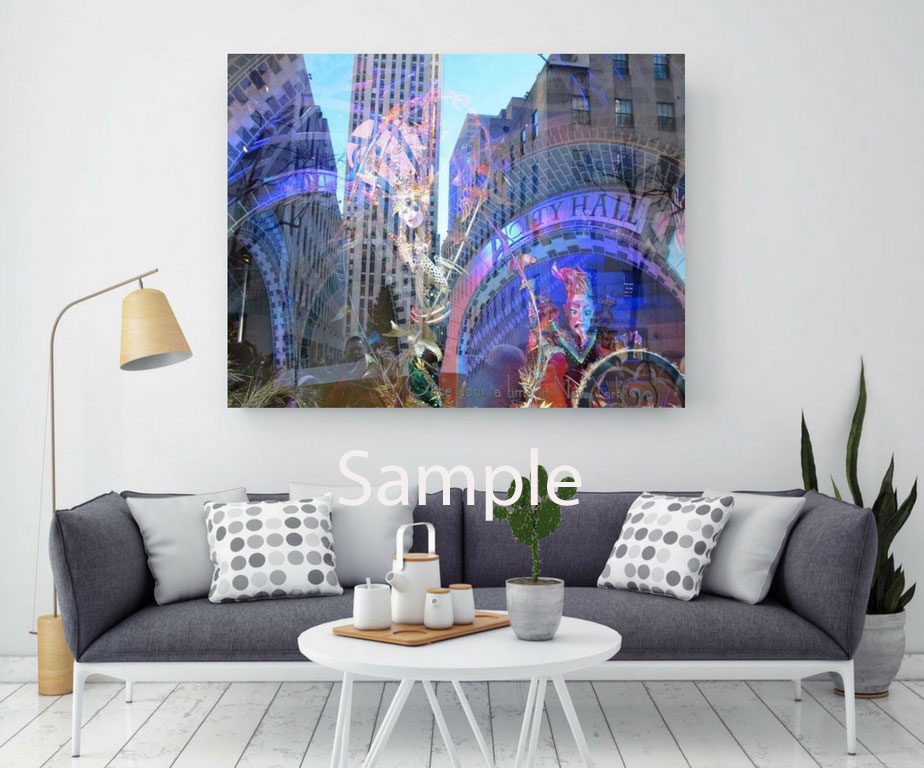 "I used an interior photograph from Shutterstock.com www.shutterstock.com and added my photograph ""NYC Window Reflections""."