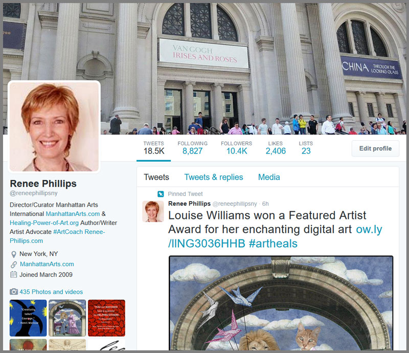 Renee Phillips Twitter page