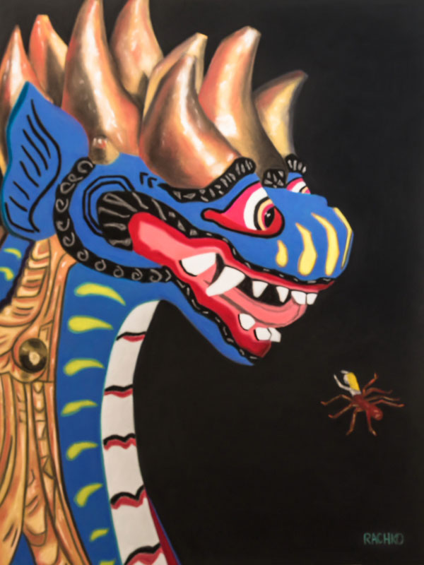 "Barbara Rachko, Palaver, soft pastel on sandpaper, 26"" x 20"" image. Size when framed: 35"" x 28.5""."