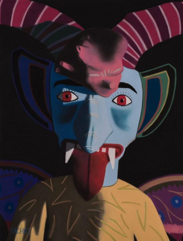 "Barbara Rachko, ""Provocateur,"" soft pastel on sandpaper, 26″ x 20″"