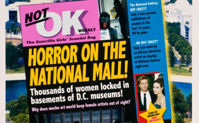 Guerrilla Girls, Horror on the National Mall!, 2007; Gift of Susan Fisher Sterling in honor of Steven Scott;