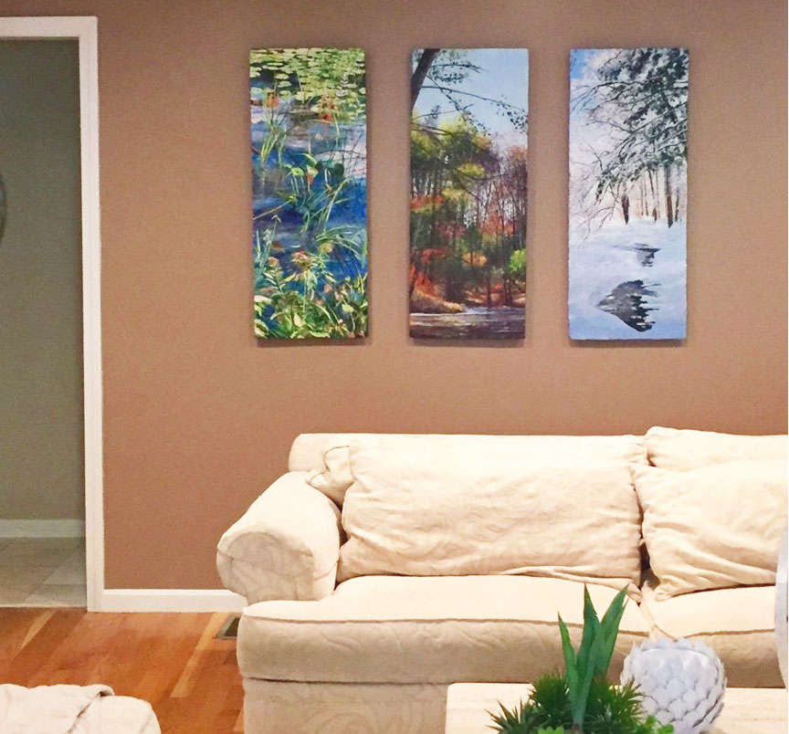 Meg Black's art in a private residence
