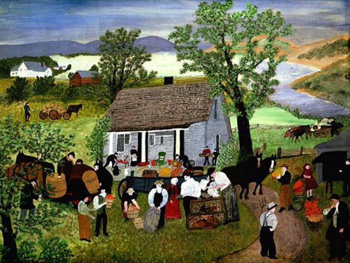 Grandma Moses, Morning Day on the Farm, 1951.