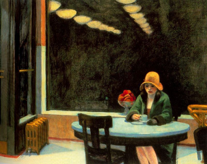 Edward Hopper, Automat, oil on canvas