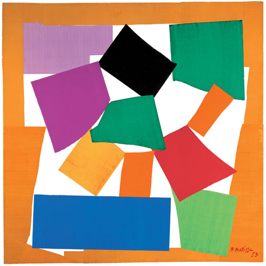 Henri Matisse, The Snail, gouache on paper, cut and pasted on paper mounted to canvas. © Succession Henri Matisse/DACS 2013