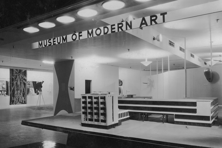 "A view of the exhibition ""Bauhaus: 1919-1928,"" which was on view from Dec. 7, 1938, through Jan. 30, 1939. CreditSoichi Sunami, The Museum of Modern Art Archives, New York"