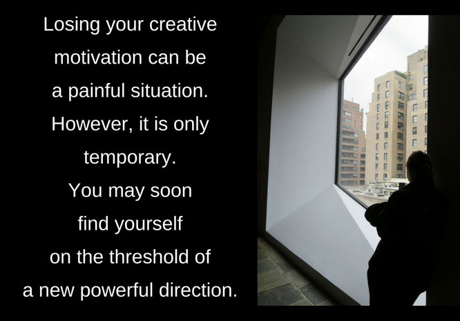 Advice for restoring creative motivation.