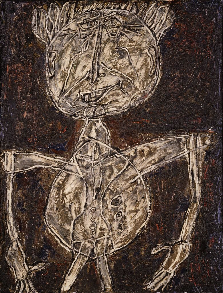 "Dubuffet, Twisted Love, He was fascinated by the art of children and the insane, for which he coined the term art brut (""raw art"")."
