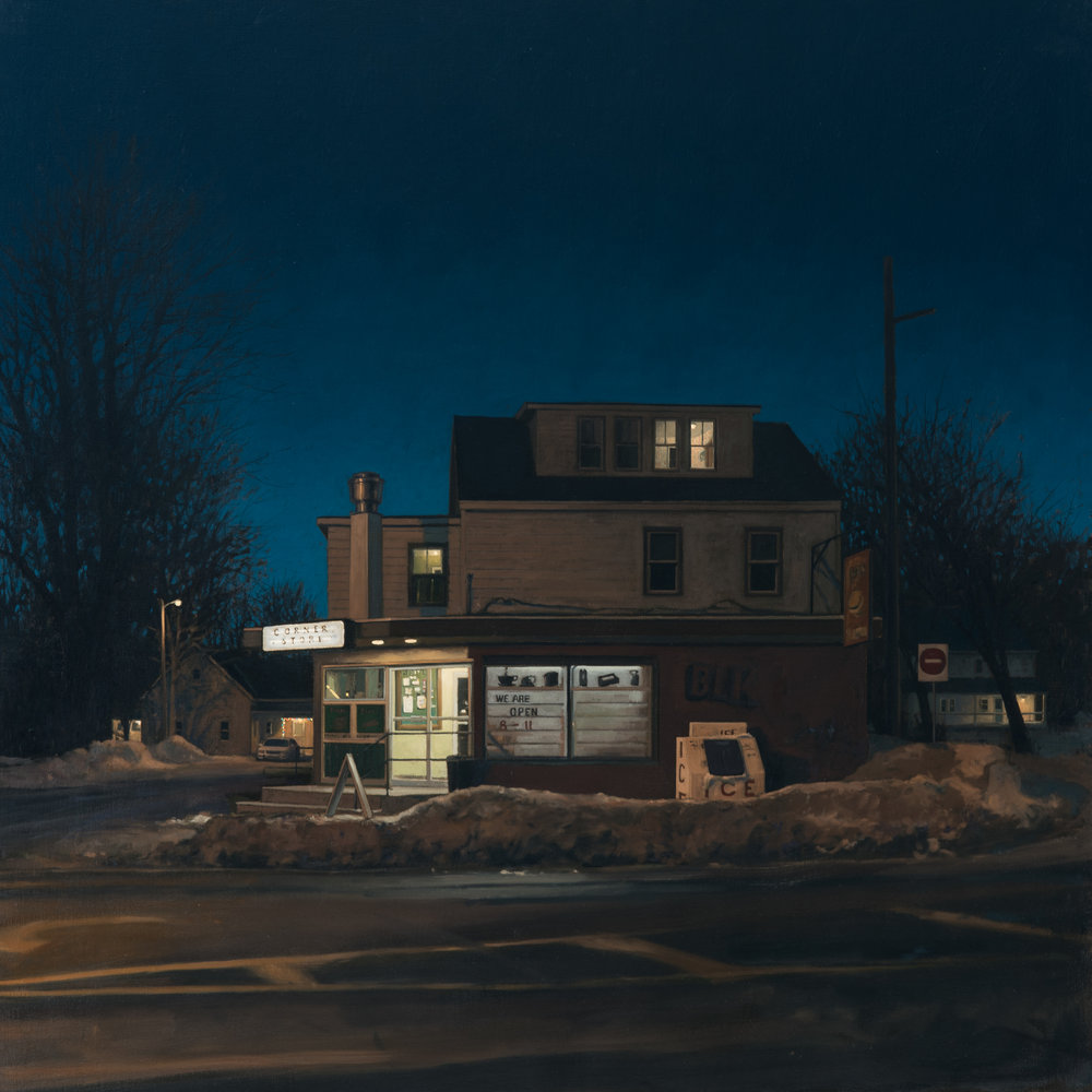 "Linden Frederick, Ice, oil on linen, 36"" x 36""."