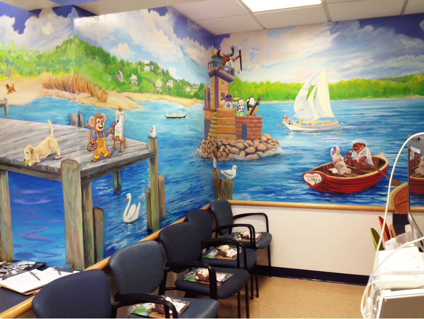 Splashes of Hope is an organization that works with artists to create murals in hospitals.