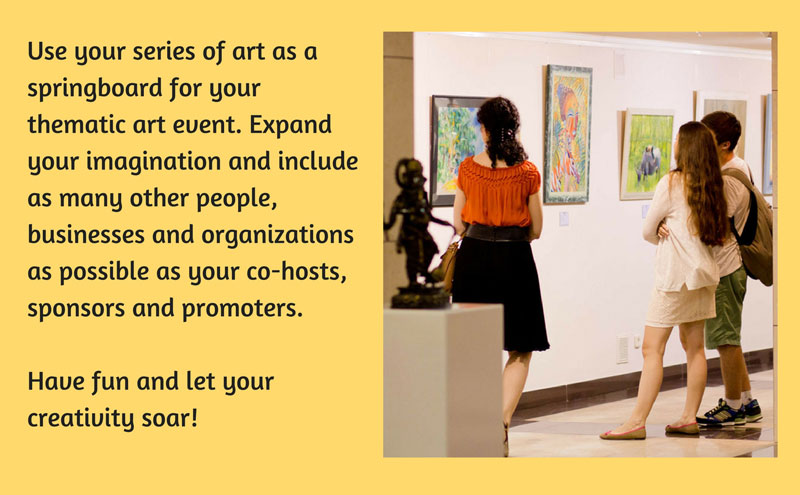 Using themes for your art exhibitions