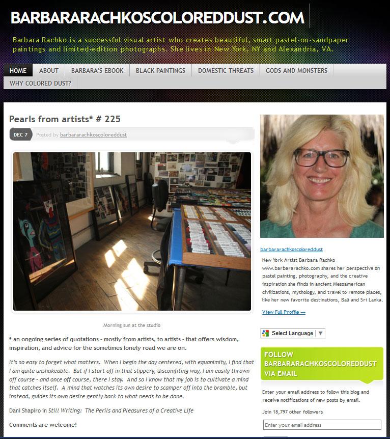Barbara Rachko's blog