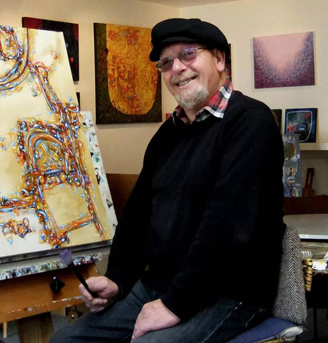 Keith Morant in his New Zealand studio