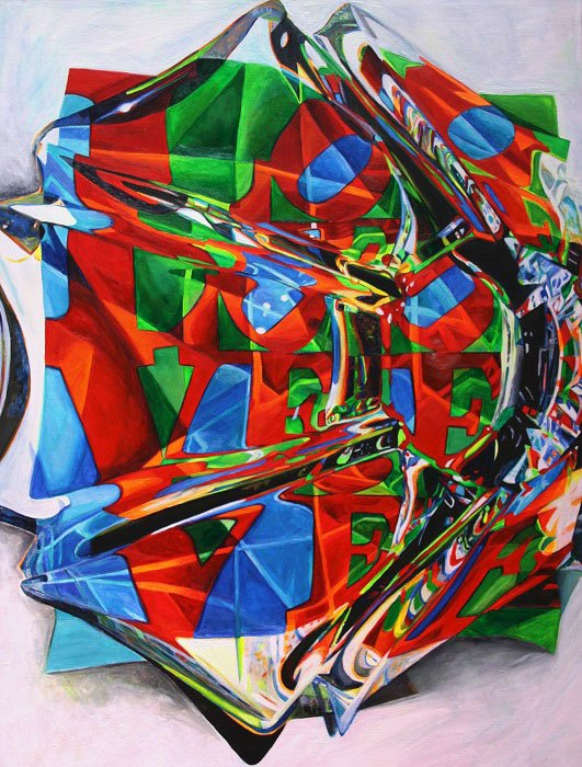 Carol Scott, Love, acrylic on canvas, 36″ x 36″.