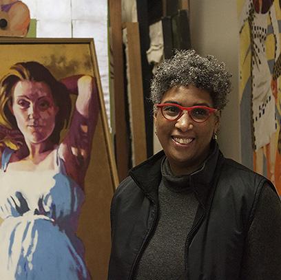 Marie Hines Cowan in her studio