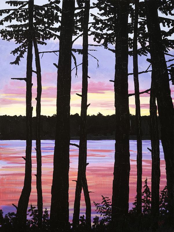 "Peter Van Giesen, Silent Witness, acrylic on canvas, 30"" x 40""."