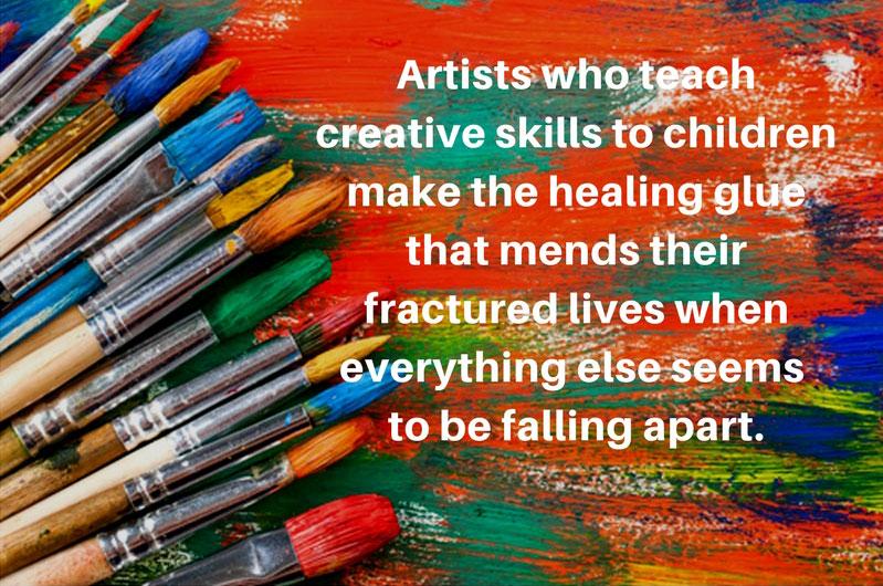 Teaching Art Brings Hope