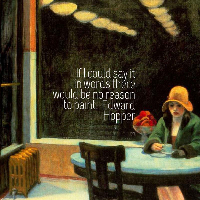 Edward Hopper art quote