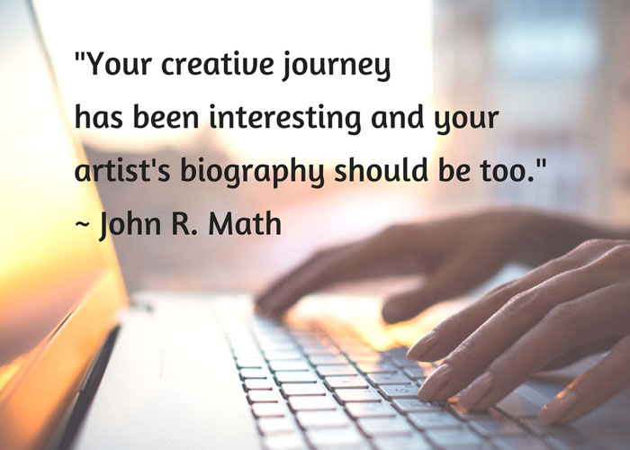Artist's Biography article by John R. Math
