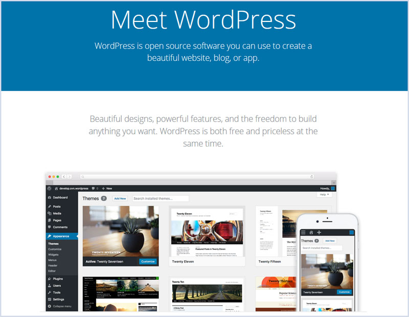 Wordpress.org has many different themes and designs to choose from.