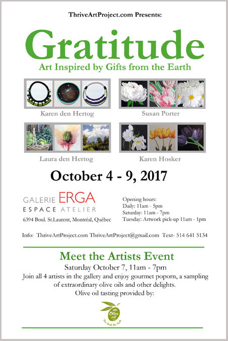 """Invitation to """"Gratitude"""" and """"Meet the Artists"""""""