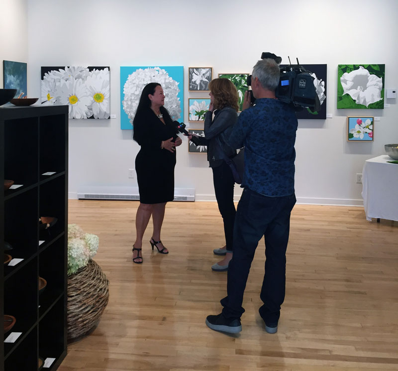 The Thrive Art Project event was televised