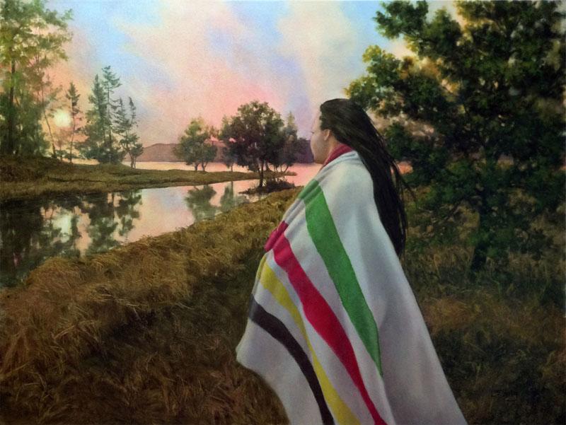 Laura den Hertog, Prosperity, oil on canvas, 30 x 40.