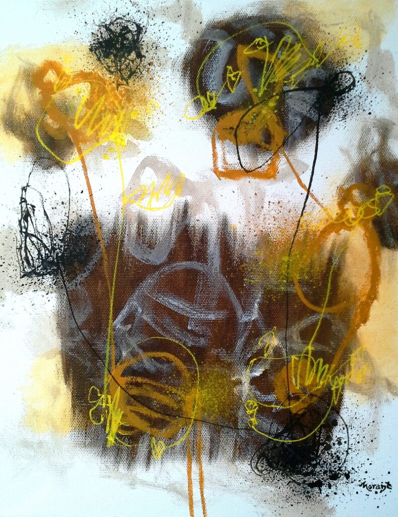 """Keith Morant, Grasping By Letting Go III, mixed media, 18"""" x 20"""""""